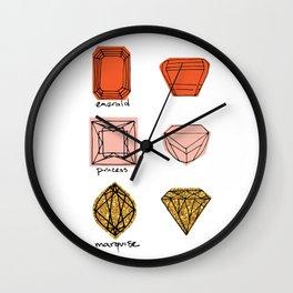 Fancy Jewels Illustration Wall Clock