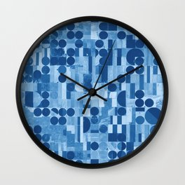 Pivot Fields (Blue) Wall Clock