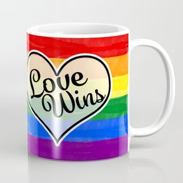 Pride Flag Love is Love-Water Color Graphic  Design  Coffee Mug