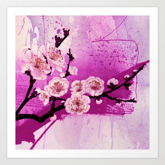 fleur de pommier Art Print
