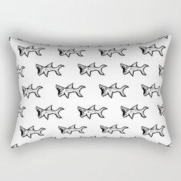 Black and White Sharks Rectangular Pillow