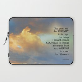 Serenity Prayer Golden Cloud Laptop Sleeve