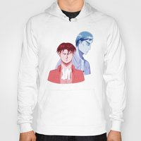 dad Hoodies featuring Red Dad Blue Dad by Saintly