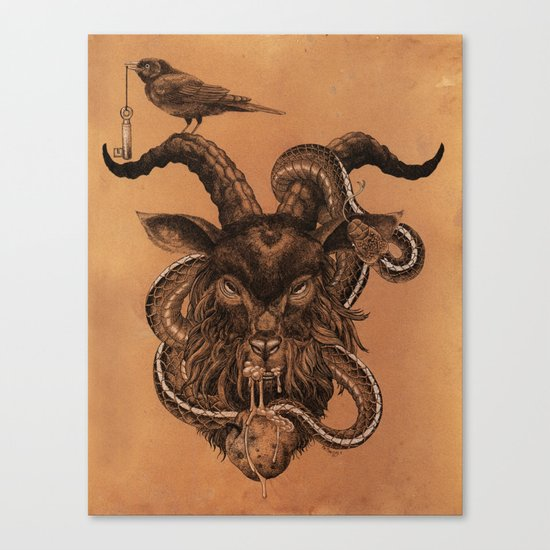 Coffee Goat Canvas Print