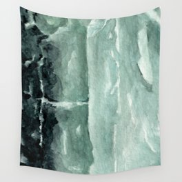 Green Calcite Crystal Watercolor Wall Tapestry