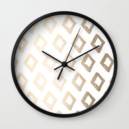 Gold Diamond Design Wall Clock