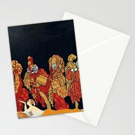 "Art Deco Design ""Mah-Jongg"" Stationery Cards"