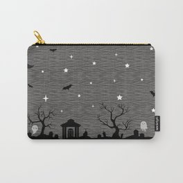 Spoopy Cemetery Print Carry-All Pouch