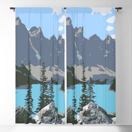 Moraine Lake- A Mountain Landscape Dream Blackout Curtain
