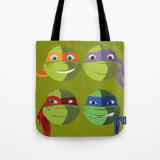 Teenage Mutant Ninja Turtles Vector Art Tote Bag