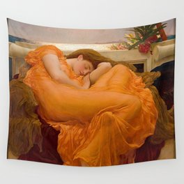 FLAMING JUNE - FREDERIC LEIGHTON Wall Tapestry