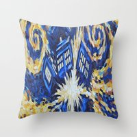 dr who Throw Pillows featuring Dr Who by giftstore2u