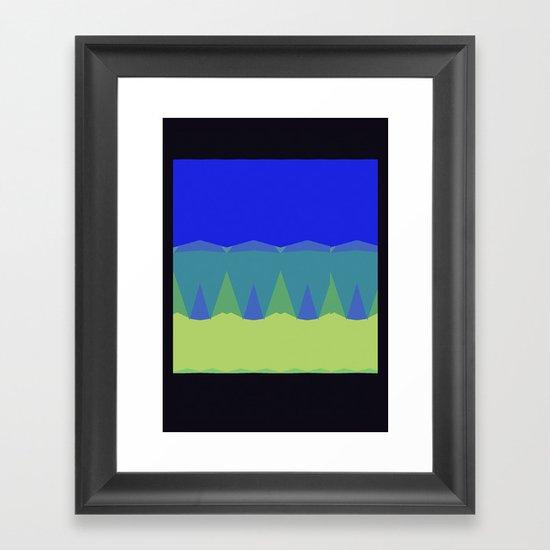 Geometric Sunset Print Framed Art Print