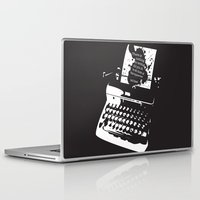 hemingway Laptop & iPad Skins featuring Ernest Hemingway Quote by People Matter Creative