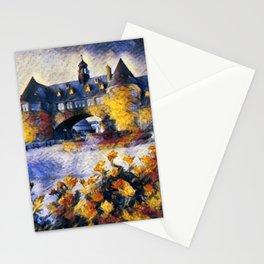 Narragansett Towers, Narragansett, Rhode Island portrait painting Stationery Cards