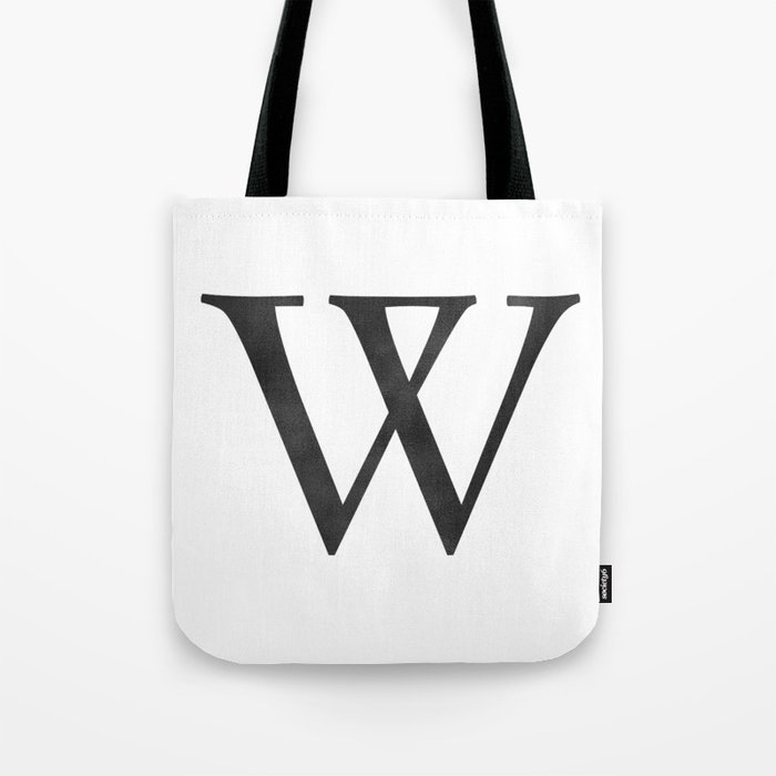 68806c2df Letter W Initial Monogram Black and White Tote Bag by followmeinstead |  Society6