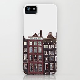 Traditional houses in Amsterdam iPhone Case