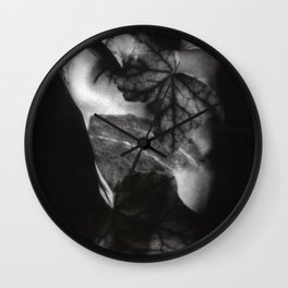 FEMALE NUDE - analog - duplex Wall Clock