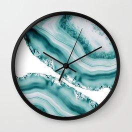 Soft Turquoise Agate #1 #gem #decor #art #society6 Wall Clock