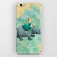 Lovely Hippo iPhone Skin