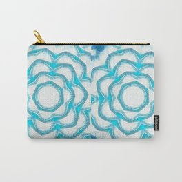 Cyan Glow Kaleidoscope 18 Carry-All Pouch