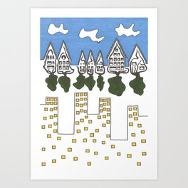 The Root and the Rebar Art Print