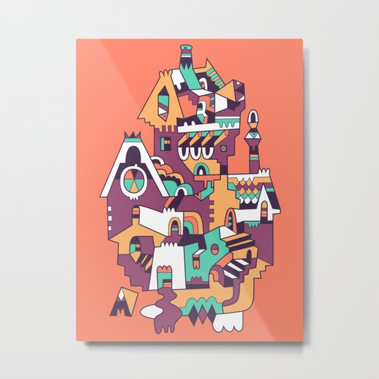 Farrier's Cabin Metal Print