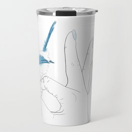 OK-blue bird Travel Mug