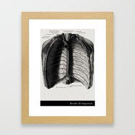 Breathe. A PSA for stressed creatives. Framed Art Print