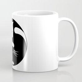 black and white cat yinyang Coffee Mug