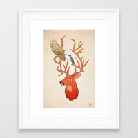 antlers Framed Art Prints featuring Antlers by Jonathan Sims