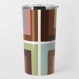 Square brown Travel Mug