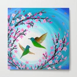 Hummingbird Design Metal Print