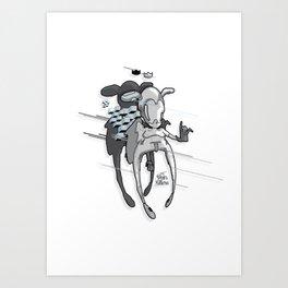 Urban Character Art Print