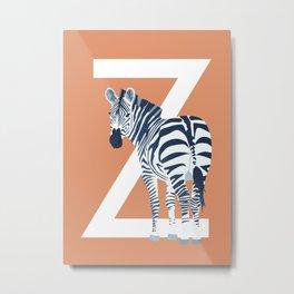Z - Zebra Metal Print
