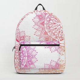 Pink & Orange Mandala Backpack