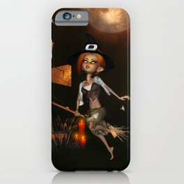 Cute little witch in the night iPhone Case