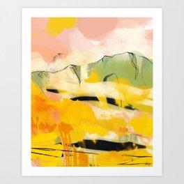 landscape abtract - paysage jaune Art Print
