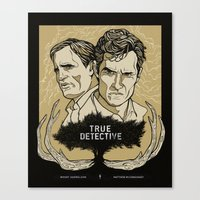 true detective Canvas Prints featuring True Detective by David Fung