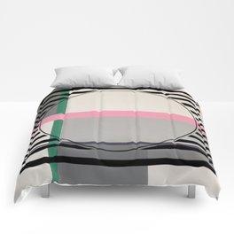 Green line - line graphic Comforters