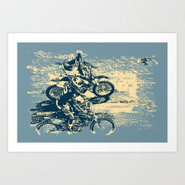 Dirt Track - Motocross Racing Art Print