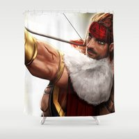 rogue Shower Curtains featuring Rogue by KlsteeleArt