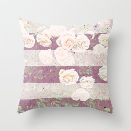 Beautiful abstract roses Throw Pillow