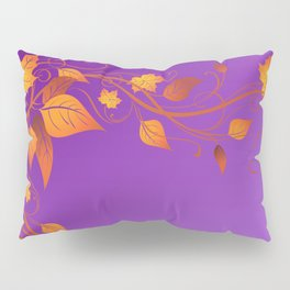 Purple Autumn Leaves Flourish  Pillow Sham