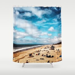 Manhattan Beach Summer Shower Curtain