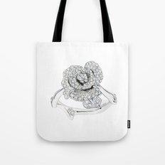 Silver Rose Ring Tote Bag