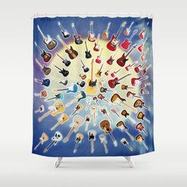 Guitar Universe Shower Curtain