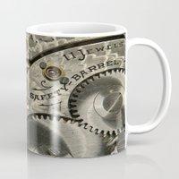 clockwork Mugs featuring Clockwork Homage by DebS Digs Photo Art
