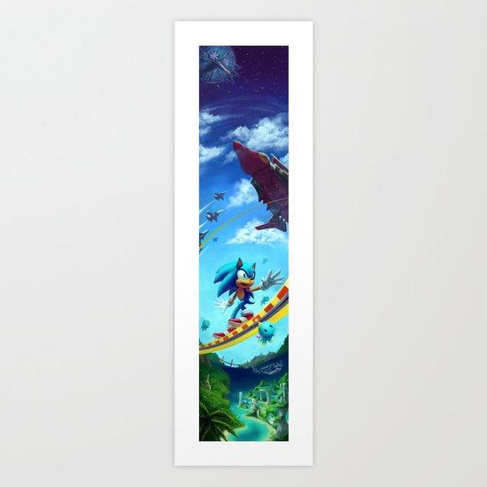 Sonic The Hedgehog Art Print