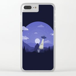 UFO Cow Abduction Clear iPhone Case